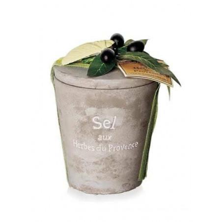 Sare cu Ierburi de Provence, vas ceramic 200g - prezentare cadou