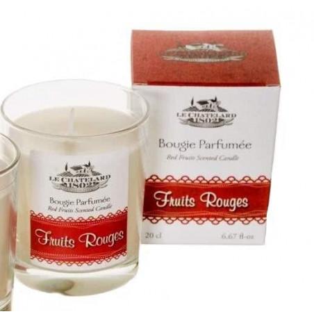 Lumanare parfumata naturala cu FRUCTE ROSII, 200ml / bougie parfumée Fruits Rouges