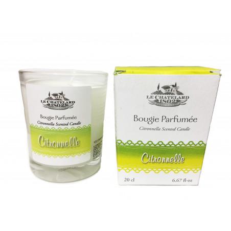 Lumanare parfumata naturala cu LAMAITA, 200ml / bougie parfumée Citronnelle
