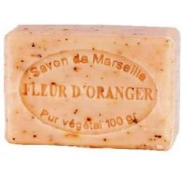 Sapun natural cu FLORI de PORTOCAL, exfoliant