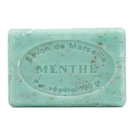 Sapun natural de Marsilia cu MENTA, exfoliant , 100g / savon de Marseille menthe