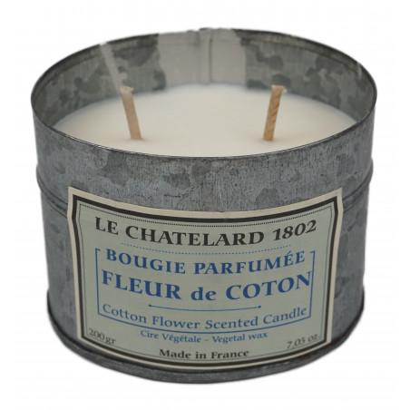 Lumanare parfumata naturala cu BUMBAC, 200g / bougie parfumée Fleur de Coton