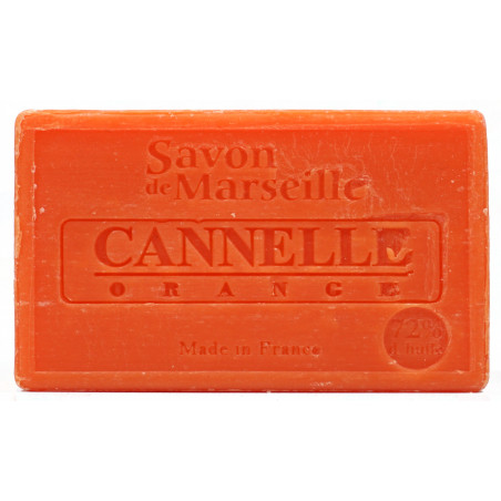 Sapun natural de Marsilia cu SCORTISOARA si PORTOCALE, 100g / savon de Marseille cannelle orange