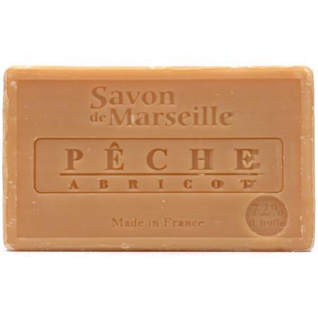 Sapun natural de Marsilia cu PIERSICA si CAISE, 100g / savon de Marseille peche abricot