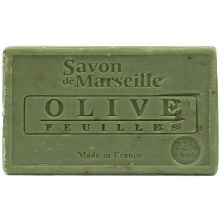 Sapun natural de Marsilia cu MASLINE, exfoliant, 100g / savon de Marseille olive feuilles