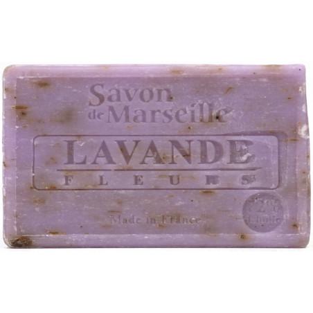 Sapun natural de Marsilia cu LAVANDA, exfoliant, 100g  / savon de Marseille lavande fleurs