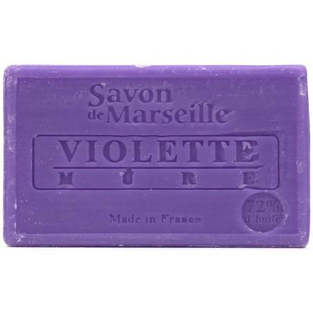 Sapun natural de Marsilia cu VIOLETE si MURE, 100g / savon de Marseille violette mure
