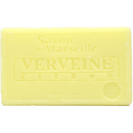 Sapun natural de Marsilia cu LAMAIE si VERBINA, 100g / savon de Marseille verveine citron