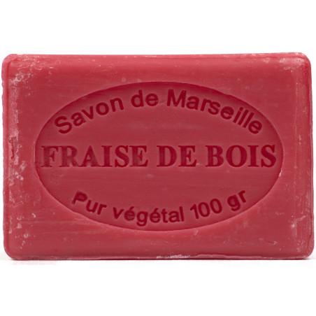 Sapun natural de Marsilia cu CAPSUNI, 100g / savon de Marseille fraise de bois