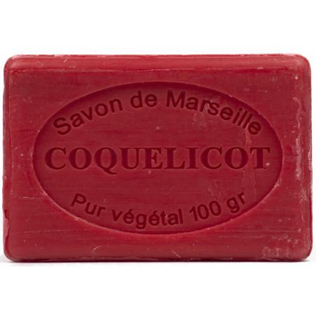 Sapun natural de Marsilia cu MAC, 100g / savon de Marseille coquelicot