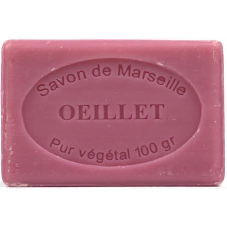 Sapun natural de Marsilia cu GAROFITE, 100g / savon de Marseille oeillet