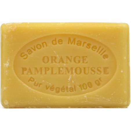 Sapun natural de Marsilia cu PORTOCALE si GRAPEFRUIT, 100g / savon de Marseille orange pamplemousse