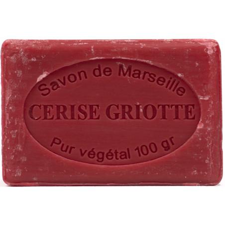Sapun natural de Marsilia cu CIRESE, 100g / savon de Marseille cerise griotte