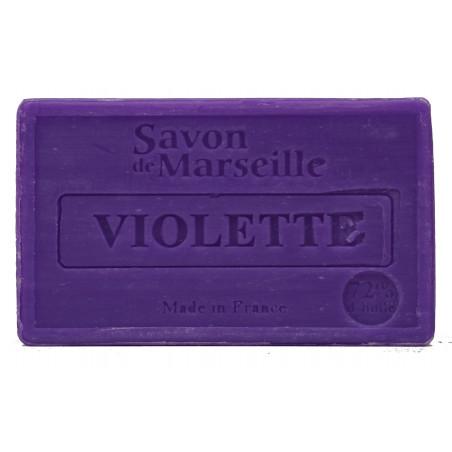 Sapun natural de Marsilia cu VIOLETE, 100g / savon de Marseille violette