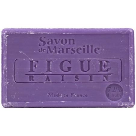 Sapun natural de Marsilia cu SMOCHINE si STRUGURI, 100g / savon de Marseille  figue raisin