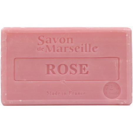 Sapun natural de Marsilia cu TRANDAFIRI, 100g / savon de Marseille rose