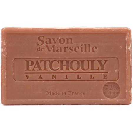 Sapun natural de Marsilia cu PACIULI si VANILIE, 100g / savon de Marseille patchouly vanille