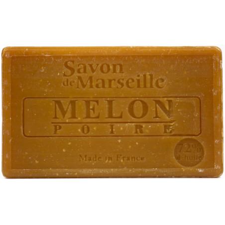 Sapun natural de Marsilia cu PERE si PEPENE galben, 100g / savon de Marseille melon poire