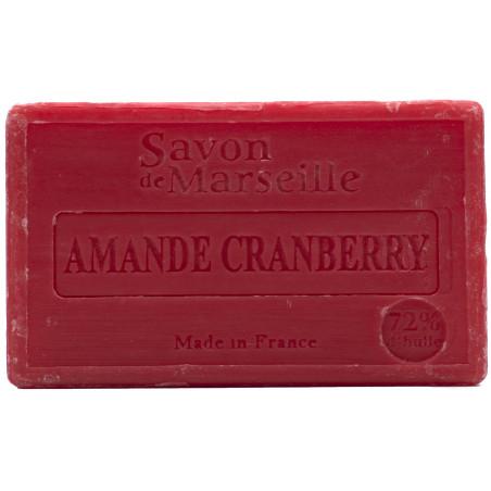 Sapun natural de Marsilia cu MIGDALE si MERISOARE, 100g / savon de Marseille amande cranberry