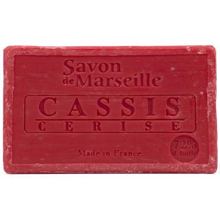 Sapun natural de Marsilia cu CIRESE si COACAZE, 100g / savon de Marseille cassis cerise