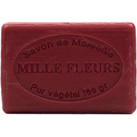 Sapun natural de Marsilia cu FLORI ROSII, 100g / savon de Marseille mille fleurs