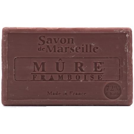 Sapun natural de Marsilia cu MURE si ZMEURA, 100g / savon de Marseille mure framboise