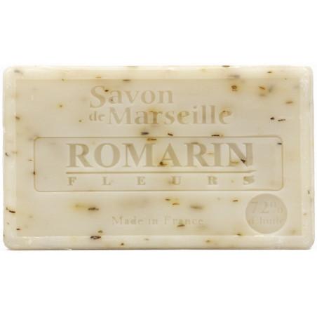 Sapun natural de Marsilia cu ROZMARIN, exfoliant, 100g / savon de Marseille romarin fleurs