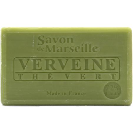 Sapun natural de Marsilia cu CEAI VERDE si VERBINA, 100g / savon de Marseille verveine the vert