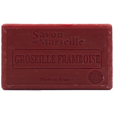 Sapun natural de Marsilia cu COACAZE si ZMEURA, 100g / savon de Marseille groseille framboise