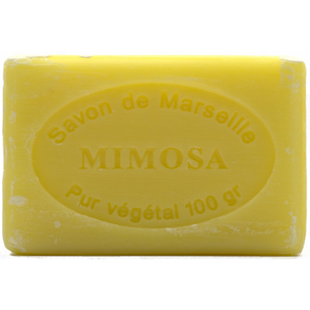 Sapun natural de Marsilia cu MIMOZA, 100g / savon de Marseille mimosa