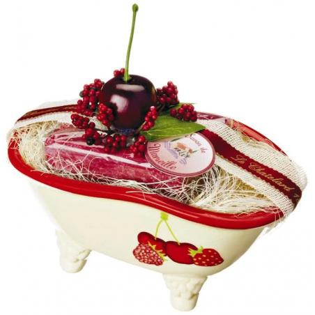 Set cadou savonieră forma cadita si săpun de Marsilia 100g