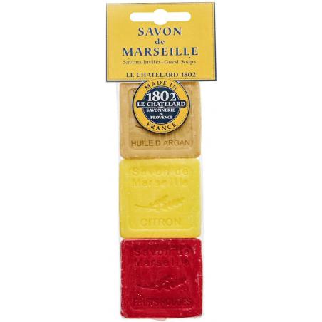 Set cadou 3 x sapun de Marsilia pentru invitati