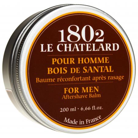 Balsam natural dupa barbierit cu LEMN de SANTAL 200ml / baume reconfortant apres rasage bois de santal