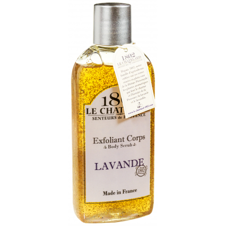 Gomaj natural cu ulei esential de LAVANDA - gel de dus exfoliant, 200ml / exfoliant corps / body scrub