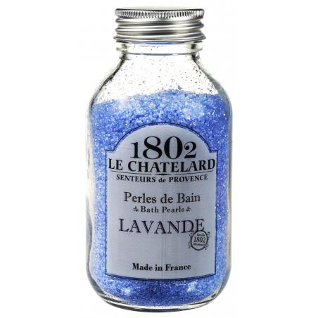 Perle de baie naturale cu LAVANDA, 180g / perles de bain lavande