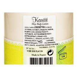 Lapte de corp natural cu UNT de SHEA, eticheta