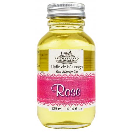 Ulei de masaj natural cu TRANDAFIRI, 125ml / huile de massage Rose