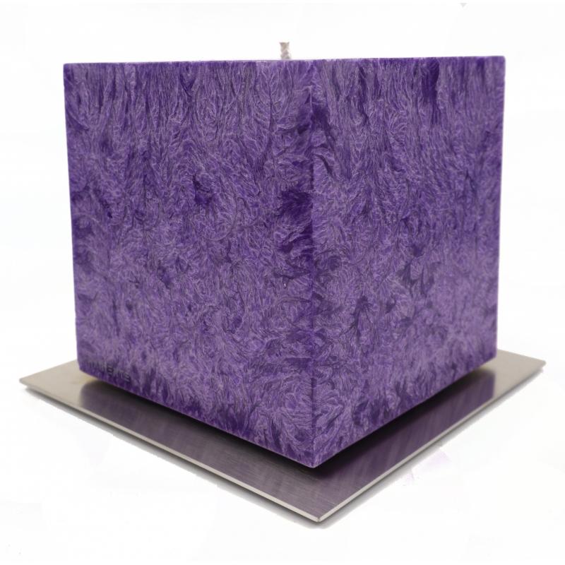 Lumanari decorative calitate premium, masive, forma cubica. Variante: rosu, argintiu, galben, violet
