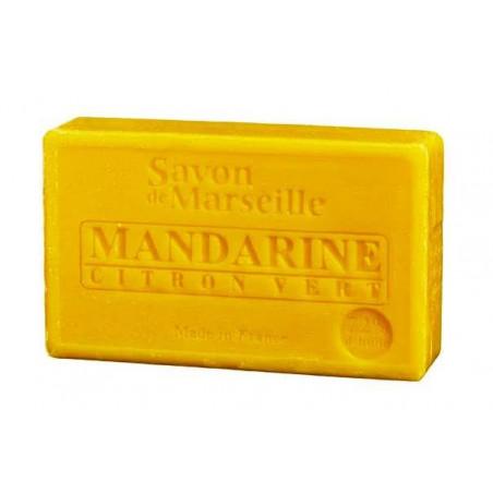 Sapun natural de Marsilia cu MANDARINE si LAMAIE verde, 100g / savon de Marseille mandarine citron