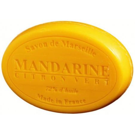Sapun natural de Marsilia cu MANDARINE si LAMAIE verde, 100g oval / savon de Marseille mandarine citron vert