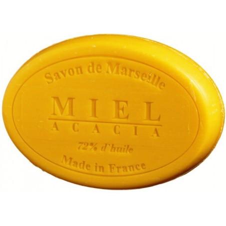 Sapun natural de Marsilia cu MIERE de ACACIA, 100g oval  / savon de Marseille miel acacia