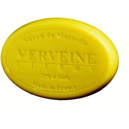 Sapun natural de Marsilia cu VERBINA si LAMAIE, 100g oval / savon de Marseille verveine citron