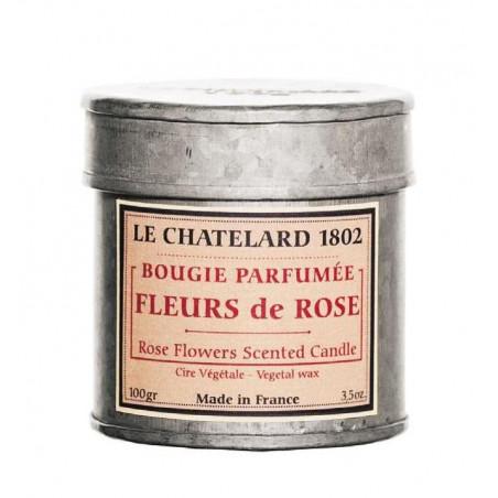 Lumanare parfumata naturala cu TRANDAFIRI, 100g / bougie parfumée Rose